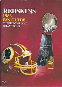 1983 Redskins Press Guide