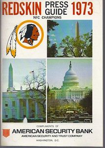 1973 Redskins Press Guide