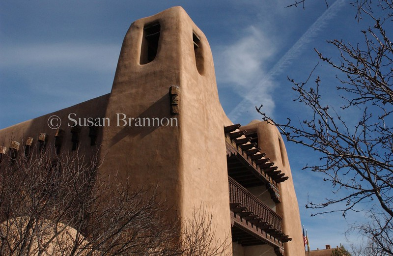 Santa Fe adobe sky