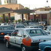 Iraq's long gas lines the average waiting time to fill up the tank is 1-2 hours.
