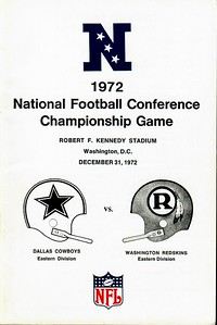 1972 NFC Championship Cowboys vs. Redskins Press Booklet