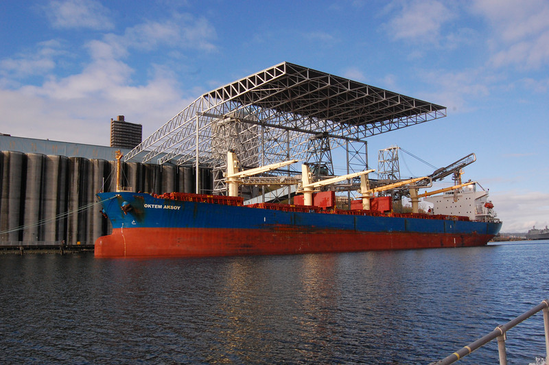 Ship in Tacoma waterway