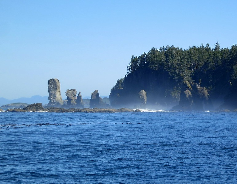 near cape flattery, fuca pillar