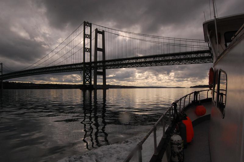 going under Tacoma narrows bridge