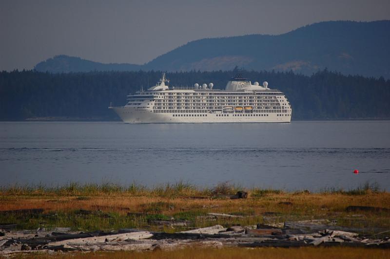 Cruise ship off Lopez Island