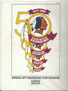 1986 Redskins Yearbook Hardcover Edition