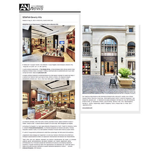 AN - Retail Design News - Serapian Milano