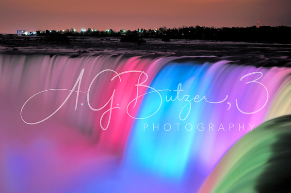 "Image published on the website of BBC News Travel, ""Niagara Falls' Colorful New Look,"" December 2016"