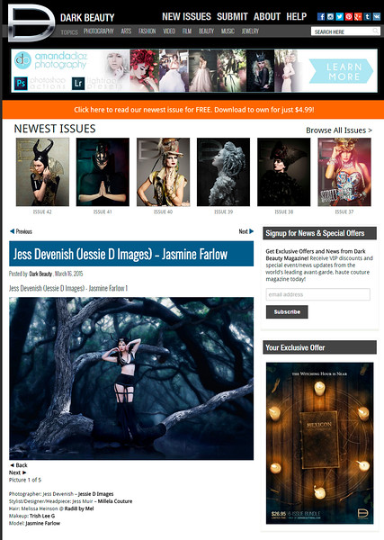 {Published} Dark Beauty Online Website and online feed