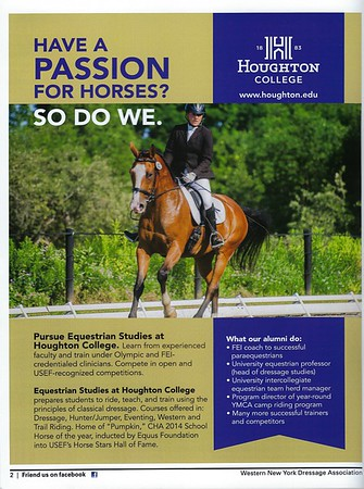Houghton College advertisement