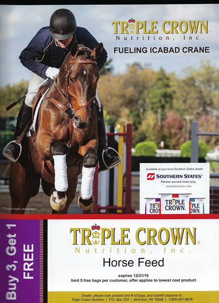 Triple Crown Nutrition, Inc advertisement featuring Icabad Crane and P. Dutton