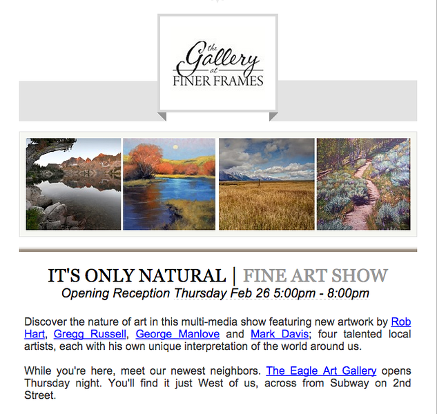 Gallery Show at Finer Frames - 2/26/15