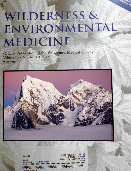 Cover Image, Wilderness Medical Magazine - 2012