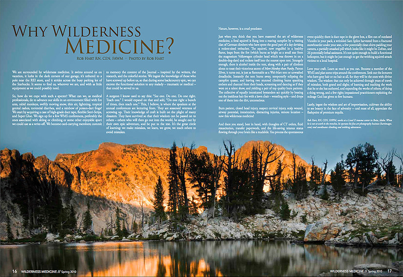 Wilderness Medical Magazine - Photographs and Article by Rob Hart. 2010