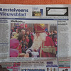 My picture on the frontpage of Amstelveens Nieuwsblad, a local newspaper.