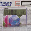 My photo on the frontpage of Amstelveens Nieuwsblad.