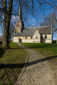 Het kerkje van Sint-Anna Pede staat ook al op het schilderij 'De parabel der blinden' van Breughel uit 1568.