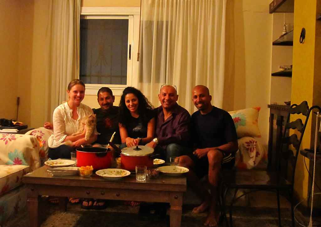 Sharing my curry with friends in Cairo, Egypt.