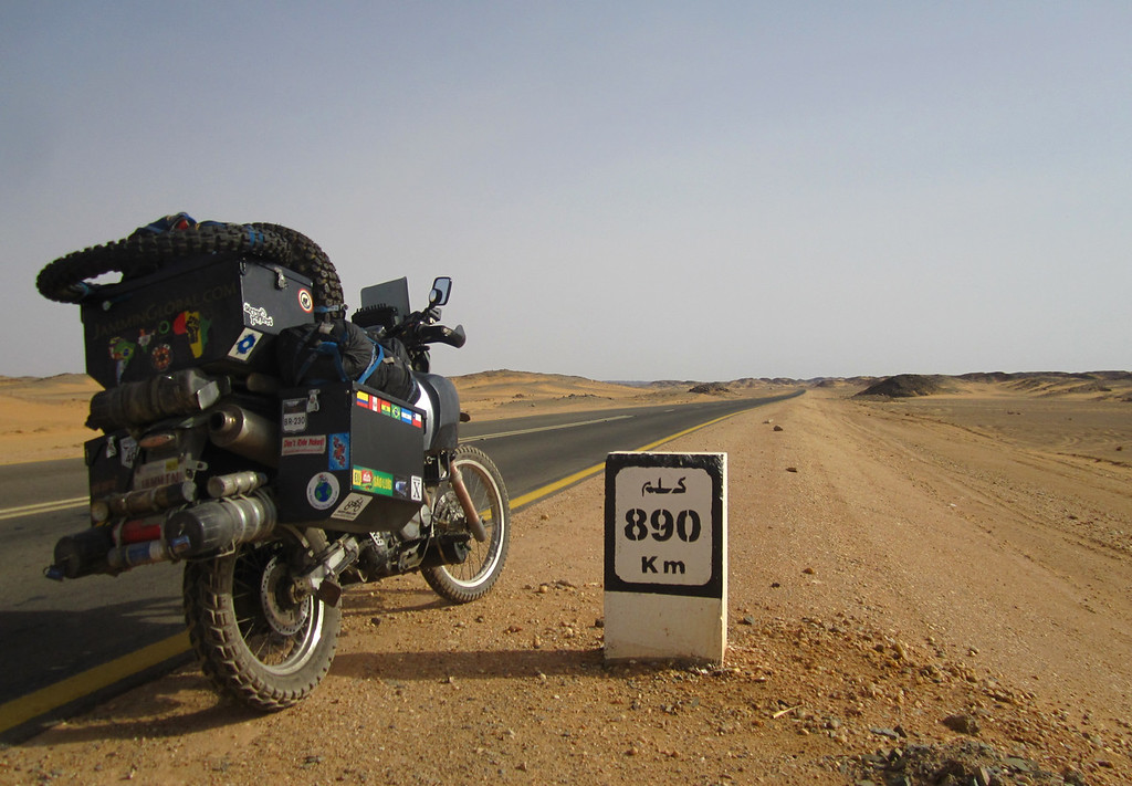 Riding solo in Northern Sudan.