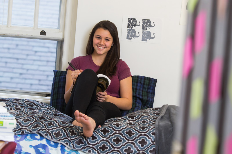 Your dorm room is a comfy place where you can hang out, study and relax. Just like at home.