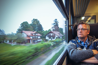 On the train to Lucerne, Switzerland via Zurich.