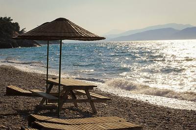 Quiet beach in Güzelcamlı National Park near Kuşadası, Turkey