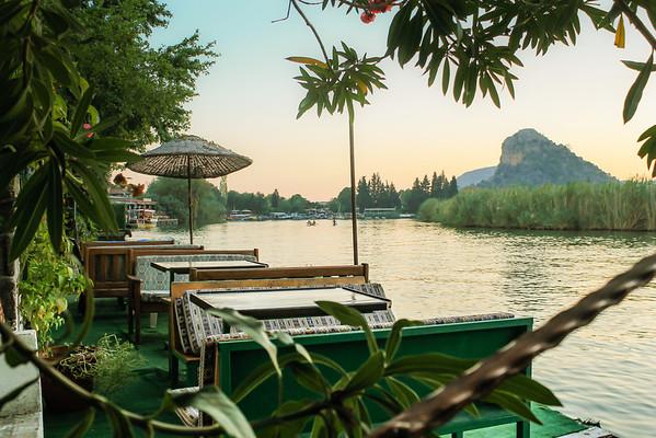 Dalyan Çayı River view.