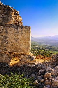 Tlos, Lycian hilltop citadel near Saklıkent Gorge.