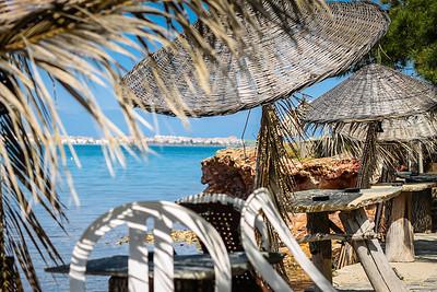 Sitting by the Aegean Sea in Ayvalık.
