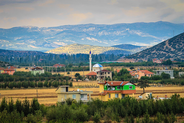Colorful village spotted on the road from Antalya to Izmir.