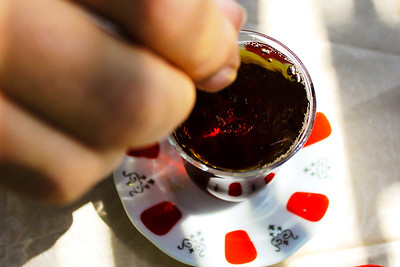 Çay tea, favorite beverage in Turkey.