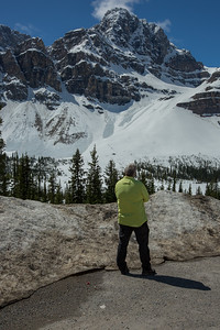 Thoughtful checking out Crowfoot Glacier