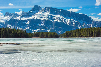 Mt. Rundle over Two Jack Lake