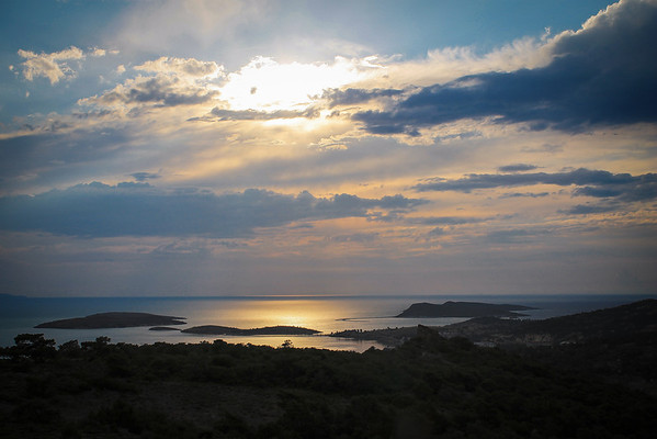 Sunset on the Aegean Sea: Eski Foça. One of our favorite places.