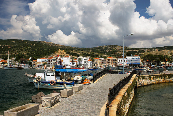 Small fishing village on Aegean Sea, Eski Foça