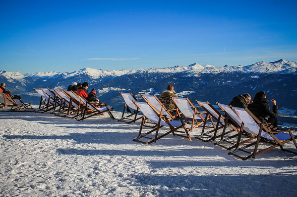 I loved the sun chairs positioned on the edge of the cliff at Seegrube ski station. You could actually get a sunburn if you weren't careful.