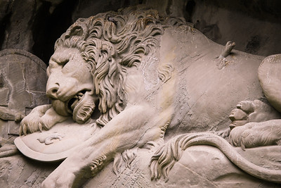 The Lion Monument of Lucerne was created to remember the Swiss Guards massacred in 1792 during the French Revolution.