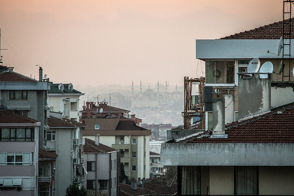 View of the Hagia Sophia from my window in Istanbul
