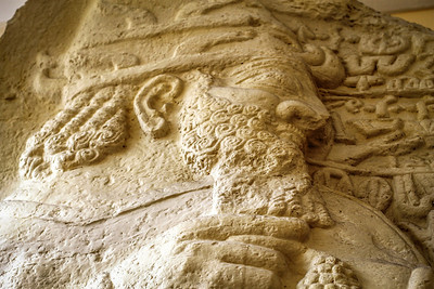 Ancient Hittite carving on display at the Istanbul Museum of Archeology