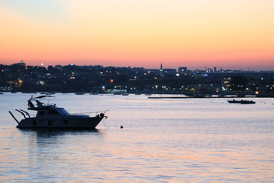 Sunset on the Marmara Sea, outside of Istanbul