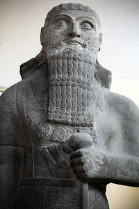 Statue of Assyrian King, Shalmaneser III, dating back to approximately 850 BC
