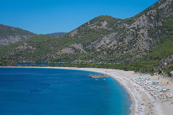 Beautiful beaches of Ölüdeniz on the Mediterranean Sea.