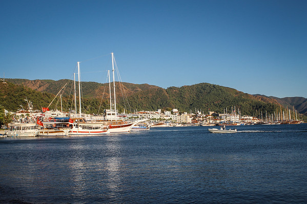 The harbor of Marmaris on the Mediterranean Coast of Southwest Turkey.