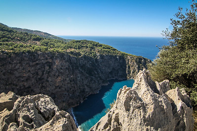 Overlooking Butterfly Valley in Ölüdeniz, Fethiye. Mediterranean Sea.