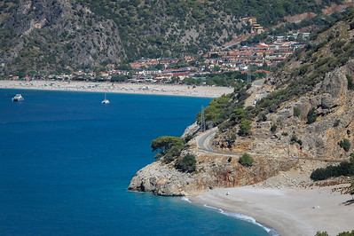 Beautiful beaches of Ölüdeniz on the Mediterranean Sea.