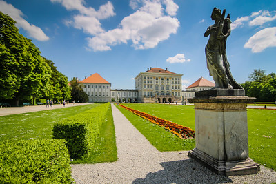 Nymphenburg Palace as seen from the royal gardens.