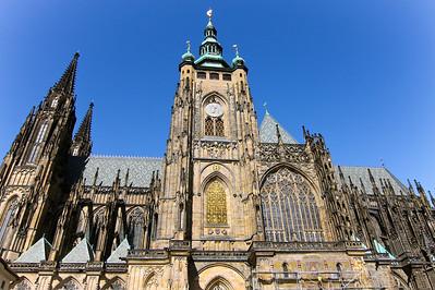 Exterior of St. Vitus Cathedral, Prague.