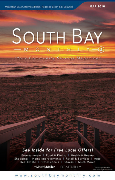 """Front Cover of """"South Bay Monthly Magazine"""", 2cd week of March 2010."""