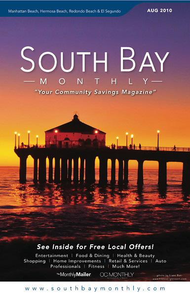 """Front Cover of """"South Bay Monthly Magazine"""", August 2010."""