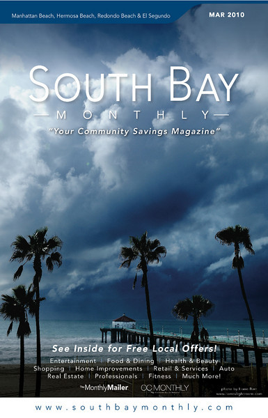 """Front Cover of """"South Bay Monthly Magazine"""", 1st week of March 2010."""
